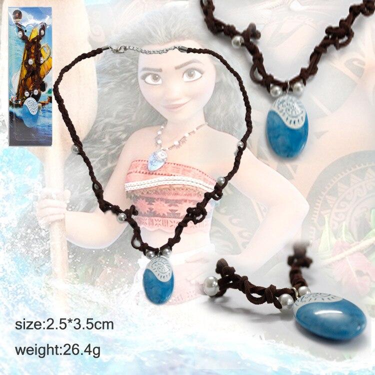 Collar de la princesa Moana, colgante de llavero, figuras de acción de una pieza de buena calidad, regalos de figuras de Anime para niñas