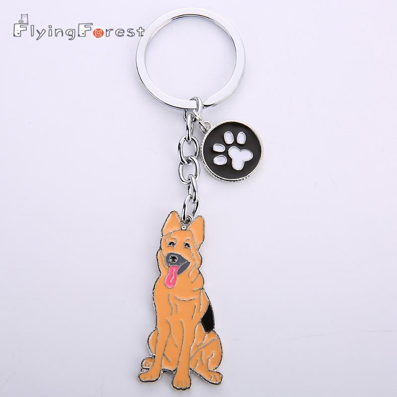 брелок для ключей симпатичный брелок Брелоки для ключей в виде собаки немецкая овчарка брелок для ключей Брелоки с животными для женщин Подарки бойфренд подарок