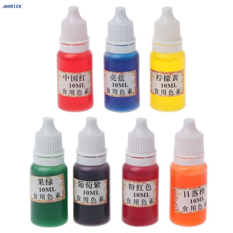 7 JAVRICK Cores Corante Corante Conjunto de Jóias Tornando A Pele Slime Seguro Líquido Resina Pigmentos 10ml
