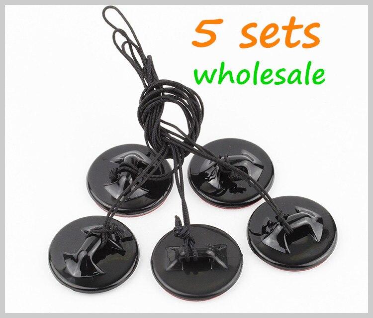 5 conjuntos por paquete, venta al por mayor, accesorios, correa de sujeción para cámara con pegatina de 3M para Go pro Heros7 6 Heros 5 / 4S / 4 / 3 + / 3