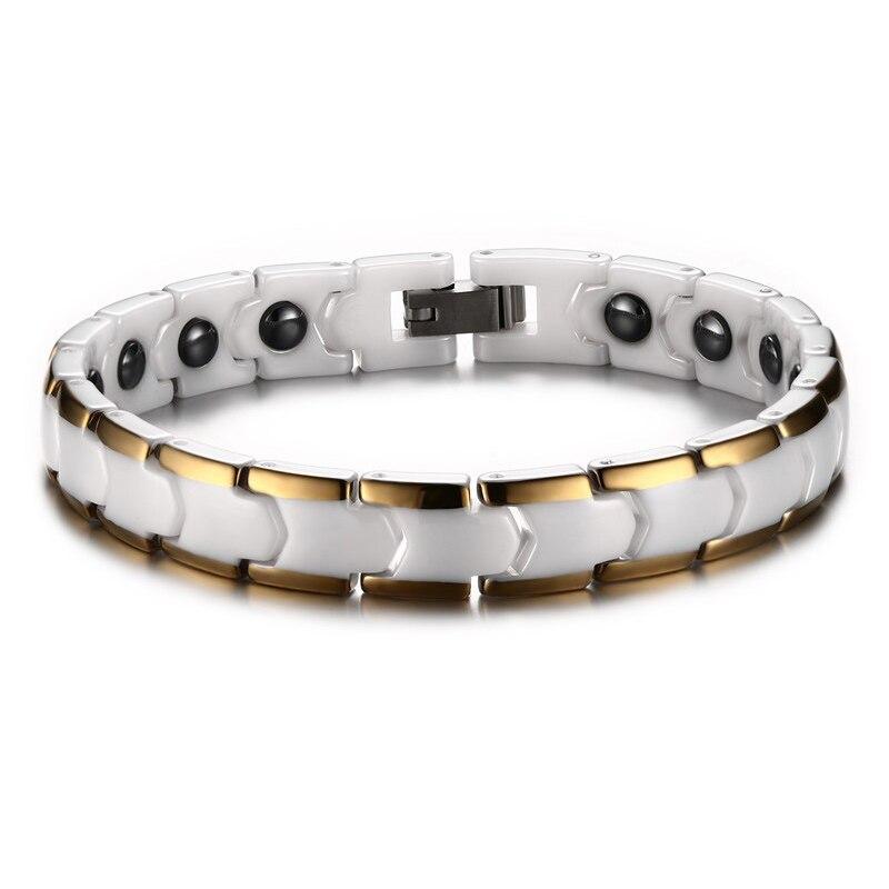 9*180 мм молочно белый керамический Магнитный германиевый здоровья браслет