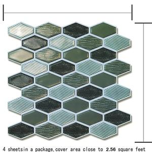 Peel and Stick Tiles Kitchen Backsplash Tiles 10''x10.7'' 3D Wall Stickers 4 Tiles/Pack Kitchen Wall Stickers