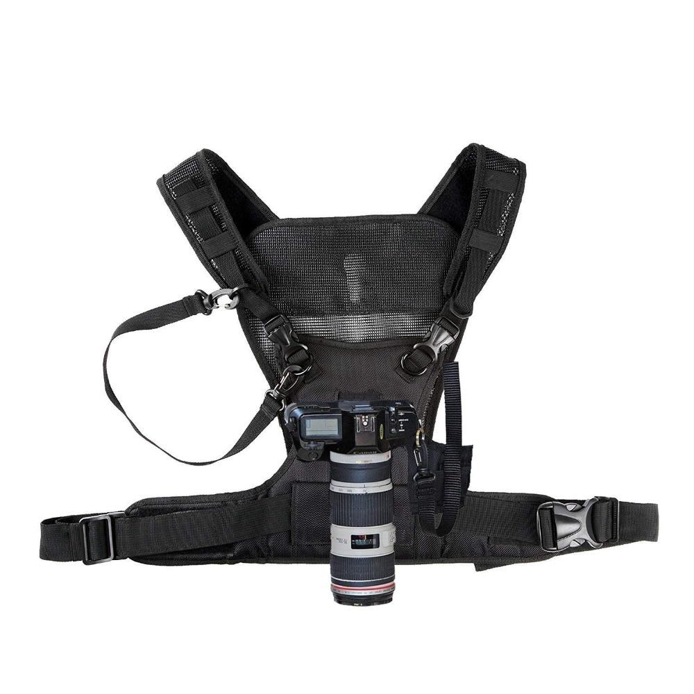 Nicama كاميرا حمل مربط صدر الصدرية مع الأشرطة آمنة ل 1 كاميرا كانون نيكون سوني باناسونيك كاميرات DSLR
