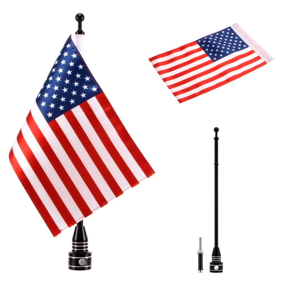 Универсальный Регулируемый задний боковой флаг для мотоцикла, 6x9 дюймов, полиэфир, флаги 8 стран для большинства мотоциклов