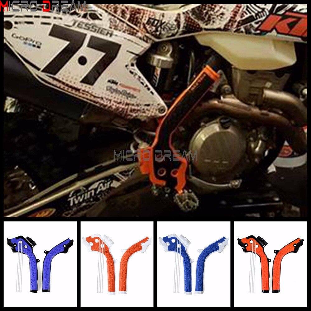 2x Motocross X-Puños de guardias de la bici de la suciedad Frameguard para KTM SX/EXC/SXF/EXCF Husqvarna TE/FE/FC/TC 125/250/300/350/450/500
