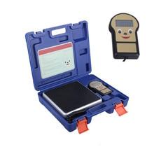 0.01lb/100kg électronique numérique cvc A/C réfrigérant fréon charge balance de poids avec étui outils de mesure Instrument bascula co