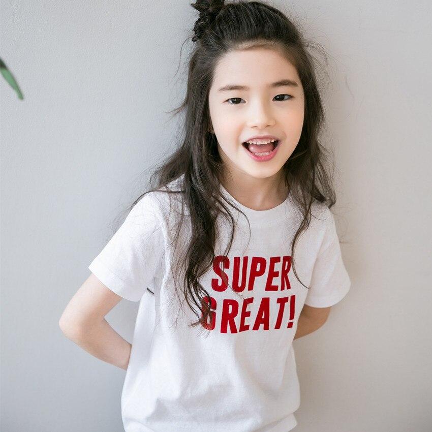 T-shirt bébé fille   En coton, avec des mots simples, #2020, nouvelle collection 2839