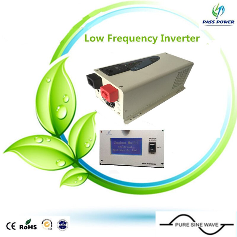 CE, ROHS aprobado, 1.5kw confiable inversor de onda sinusoidal pura inversor de baja frecuencia 1500w 24v a 220v