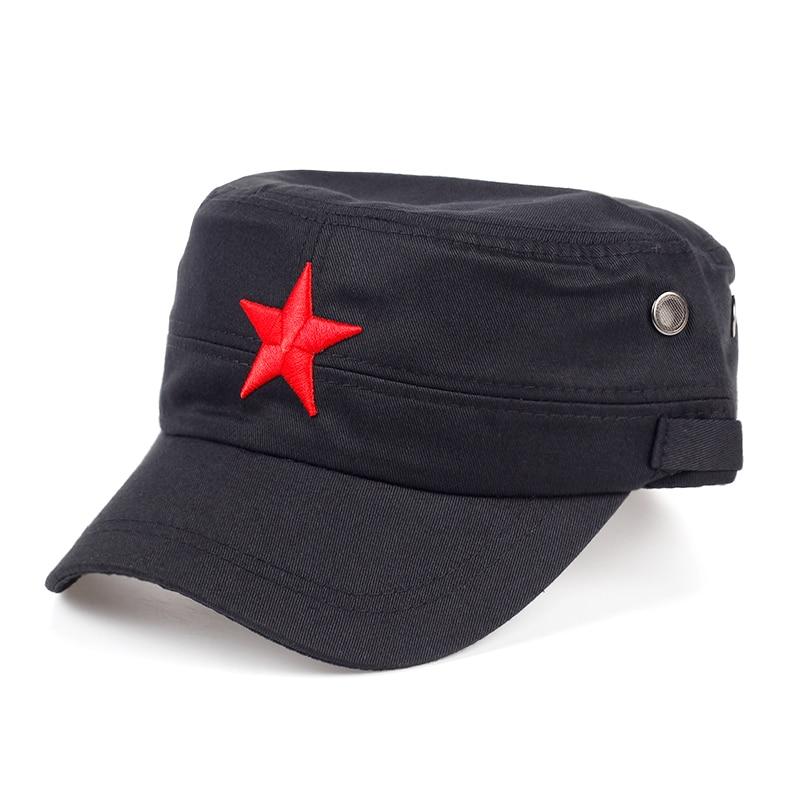 TUNICA 2017 Новая китайская бейсбольная Кепка с вышивкой в виде Красной Звезды, модная женская хлопковая кепка для мужчин и женщин, можно регулир...