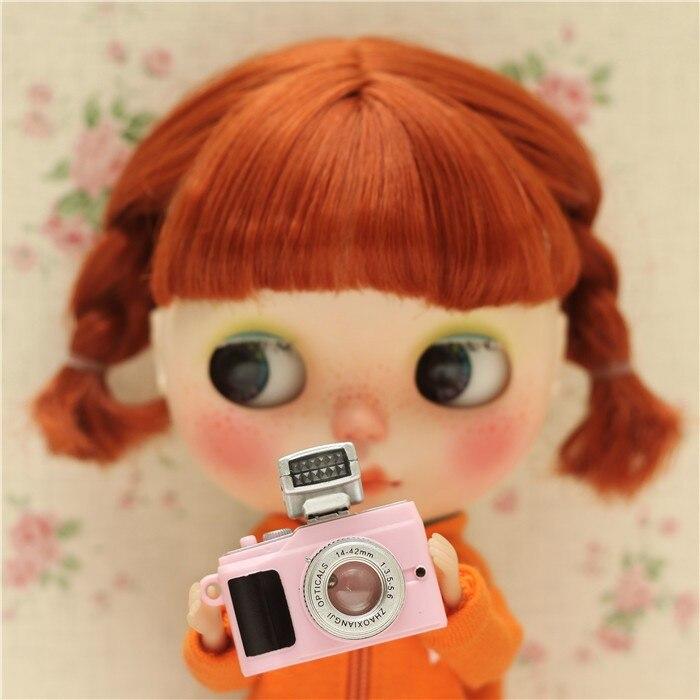 Accesorios para muñeca de moda 4 Uds., cámara para muñeca de 30cm, cámara para muñeca BJD 1/ 6, cámara para blyth pullip, accesorios de fotografía