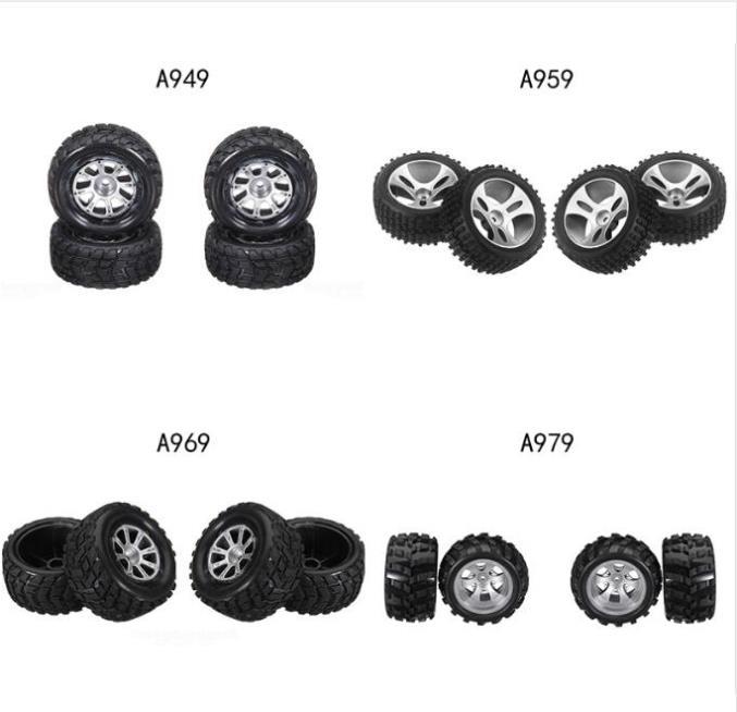 Wltoys A949 A959 A959-B A969 A969-B A979 A979-B 1/18 RC Car Spare Parts Original tire 4pcs