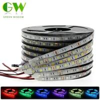 Цветная (RGB) Светодиодные ленты светильник 5050 2835 DC12V неоновая лента Водонепроницаемый гибкая светодиодная лента Диодная лента 60 светодиодов...