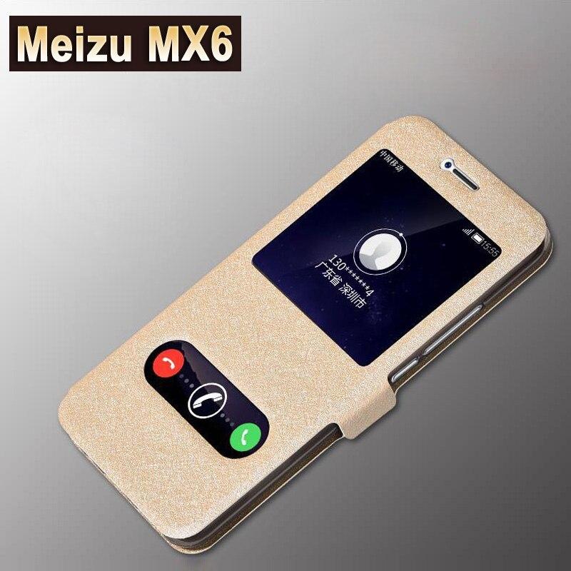 Funda para Meizu mx6, Funda de cuero con ventanas para mezu Meizu mx6, funda de lujo de PU Meizu mx 6