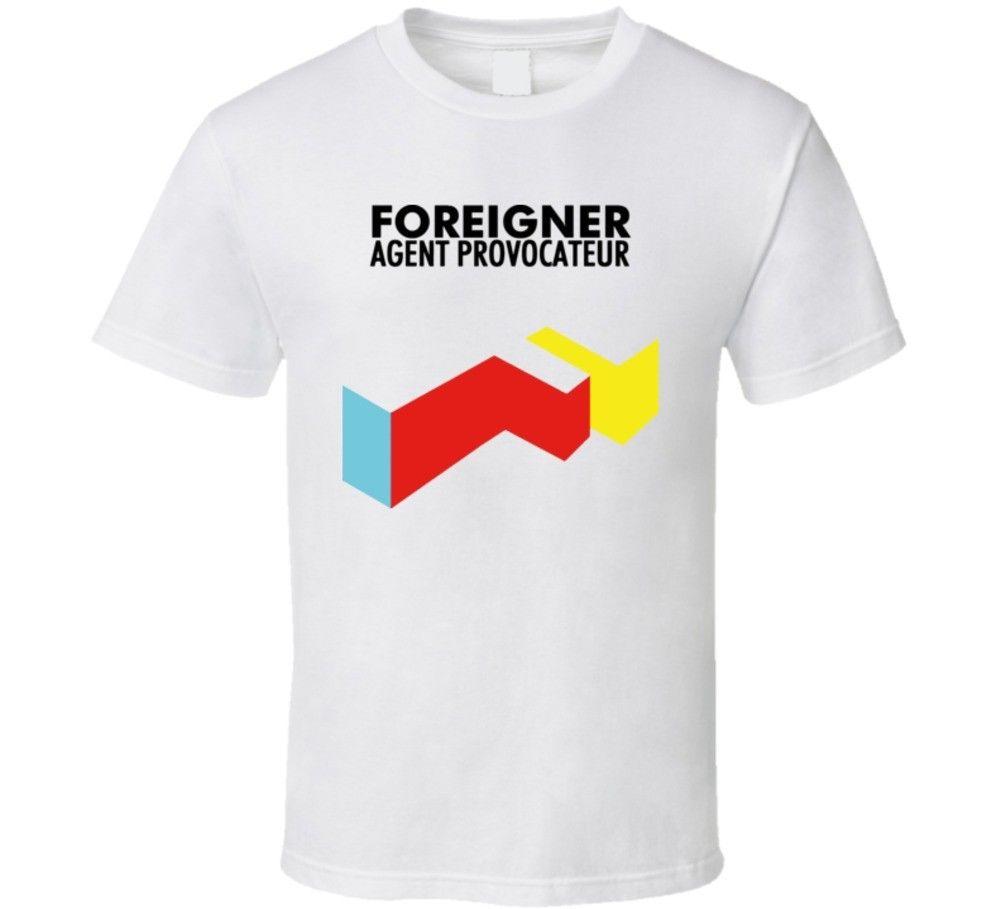 Extranjero agente provocador T camisa Camiseta de algodón moda divertido ropa Casual camisas de manga corta