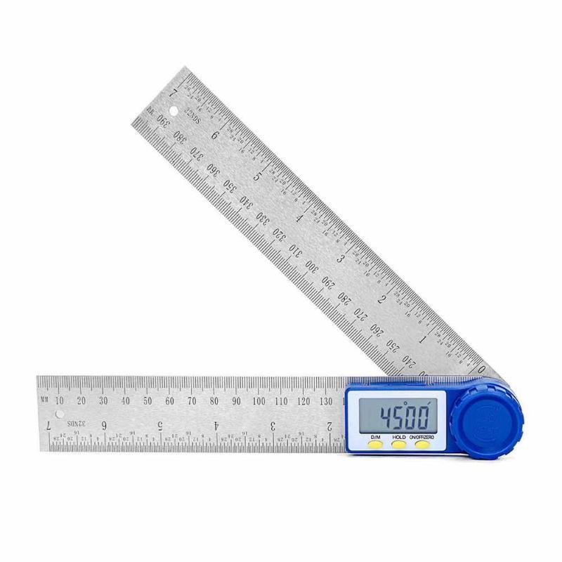 0-360 ° 200 milímetros Governante Goniômetro Digital Transferidor Inclinometer Nível Ferramenta De Medição Régua