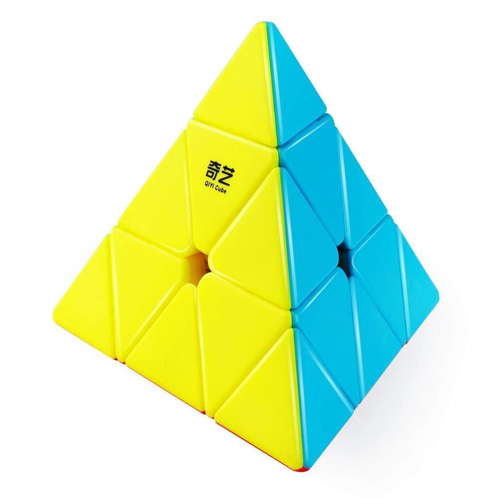 Rompecabezas de cubo triangular d-fantix Qiyi Qiming piramidal sin adherente, Cubo de velocidad