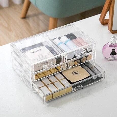 Органайзер для хранения и организации дома, органайзер для домашнего офиса, акриловая коробка для хранения косметики, прозрачная коробка для ювелирных изделий