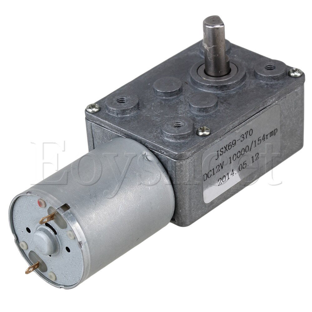 Hohe Drehmoment Turbo Wurm Getriebe Box Ausgerichtet Elektrische Drive Motor für DIY 12V 154rpm