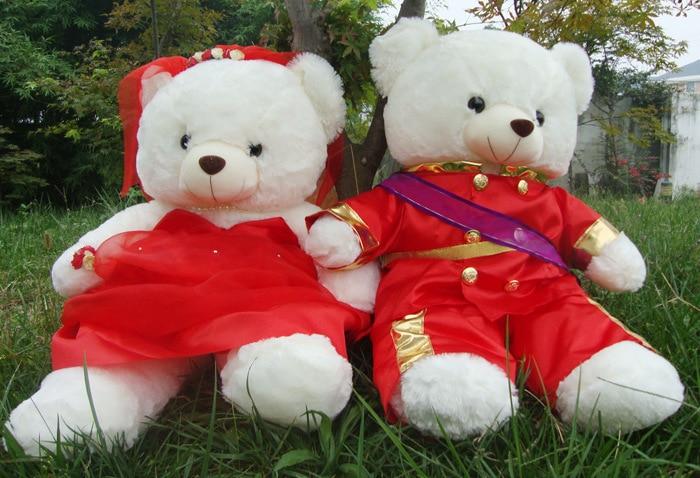 stuffed toy Military uniform bridegroom, bride bear wedding bears plush toys, couples bears doll ,proposal ,wedding gift t6671