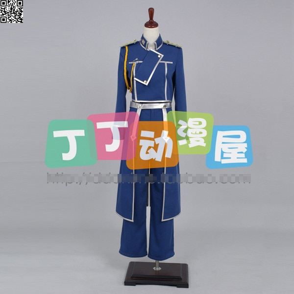 Fullmetal Alchemist Roy Mustang hombres y mujeres Cos Anime fiesta Cosplay traje uniforme