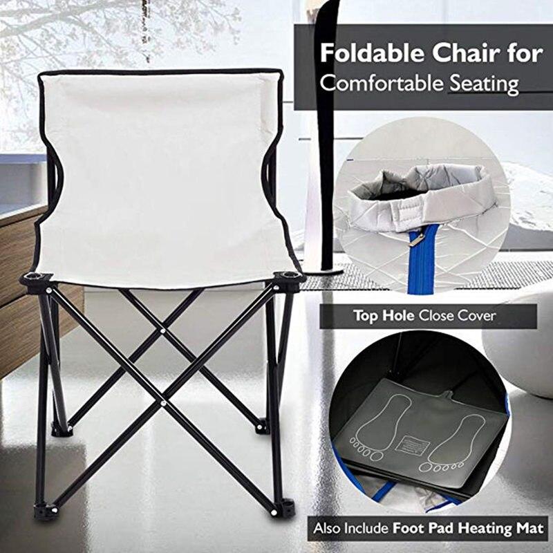 Купить с кэшбэком Far Infrared Sauna Slimming For Sauna Weight Loss Negative Ion Detox Therapy  Personal Fir Sauna Cabin Room With Folding Chair