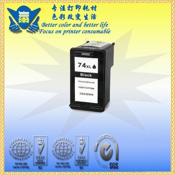 Reemplazo de cartucho de tinta remanufacturado JIANYINGCHEN para HP74xl CB335WN para la serie officejet all in one 5700 (2 unids/lote)