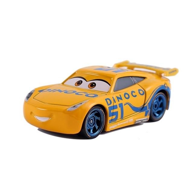 Cars Disney Pixar Cars 3  Lightning McQueen Toys Jackson Storm The King Mater 1:55 Diecast Metal Alloy Model Car Kid Gift Boy 6