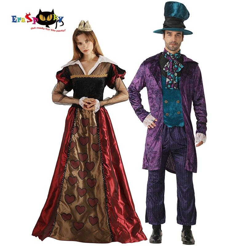 فستان حفلة عيد الهالوين من إرسسوكي أليس في بلاد العجائب للبالغين فستان ملكة القلوب للنساء