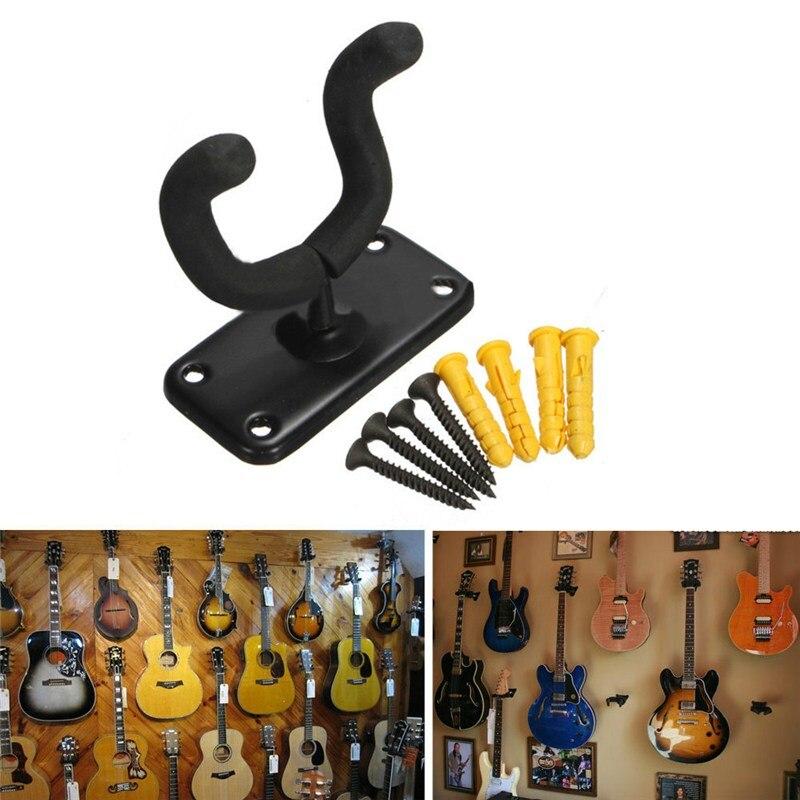 Bass Guitar Hanger Hook Holder Guitar Accessories Ukulele Wall Mount Stand Rack Bracket +Screws For Musical Instruments Part