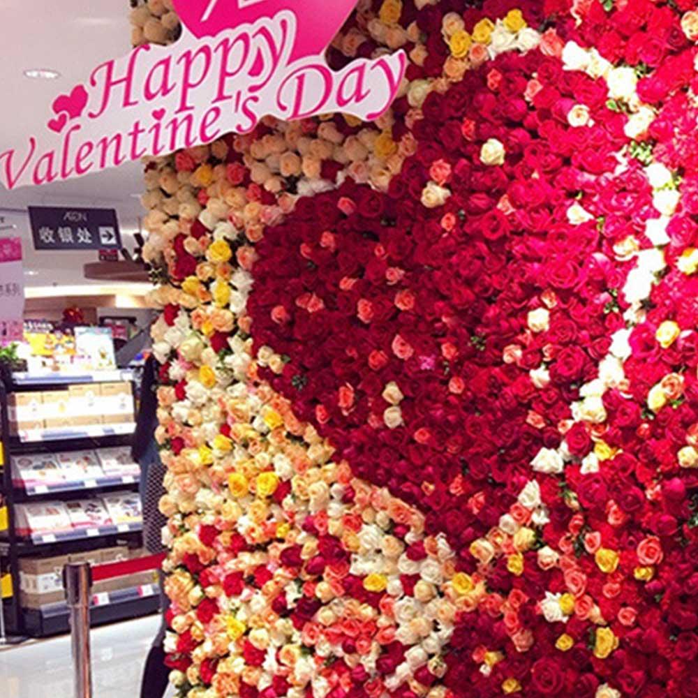 60*40cm flores falsas DIY guirnalda boda fondo de flores arreglo fiesta evento casa decoración Artificial Pared de flores rosa de seda
