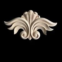 antique decorative wood corner flower carved furniture decor cabinet door irregular wooden mouldings flower carving figurine