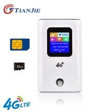 TIANJIE 4G Wifi Routeur Débloquer 3G/4G LTE Routeur De Voyage voiture wifi роутер Batterie Externe Mifi FDD-LTE DÉBLOQUER Dongle FDD-LTE роутер wi fi