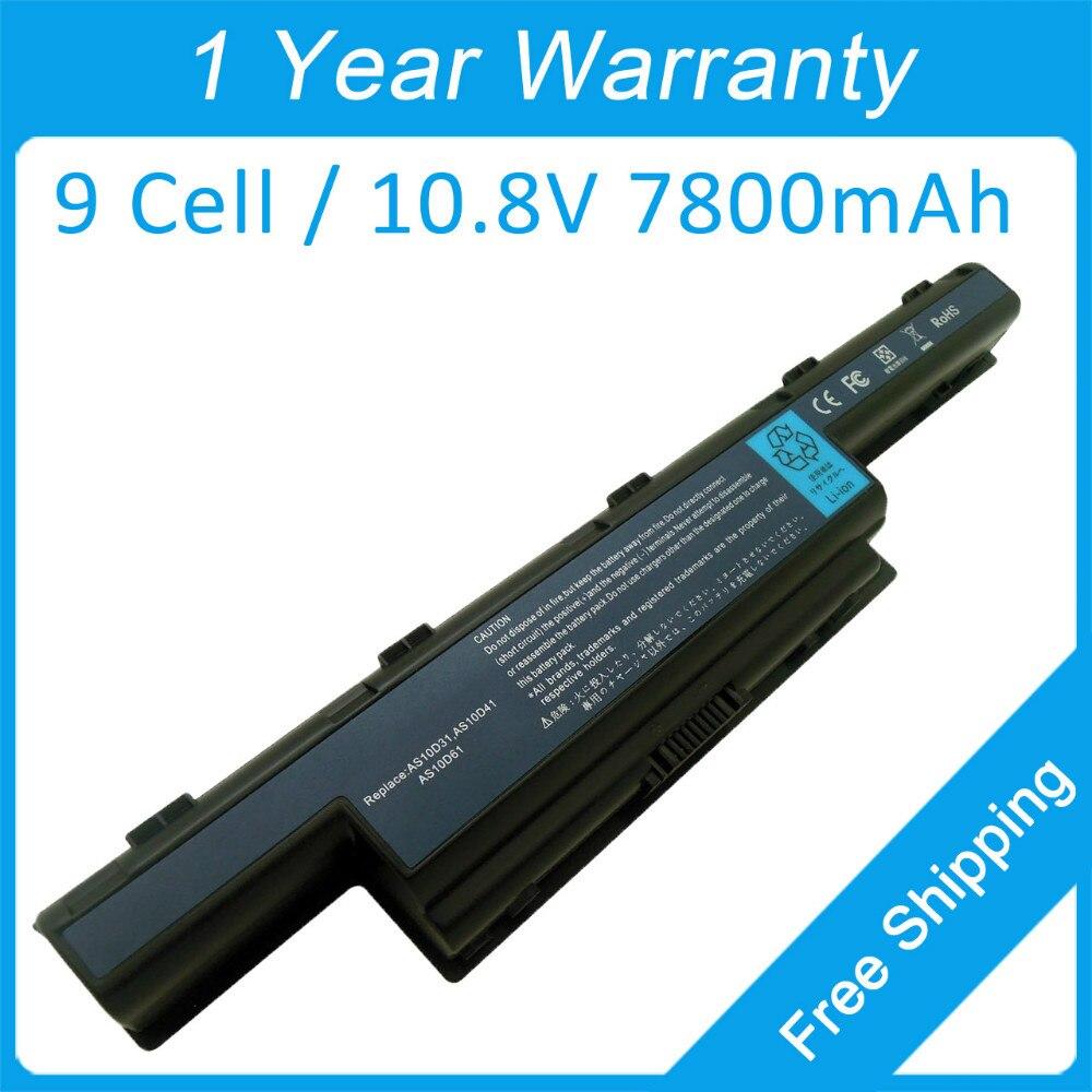Nouveau 7800 mah batterie dordinateur portable AS10G3E AS10D51 AS10D41 pour acer TravelMate 8573 8572G P243 8573G 8472Z 4750G 5735G 5760Z