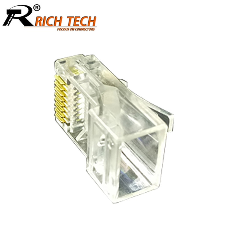 Prise mâle RJ45 Cat5 CAT5e 100 pièces/lot   Prise modulaire réseau RJ45, connecteur RJ45 8P8C, tête en cristal, connecteur de câble réseau