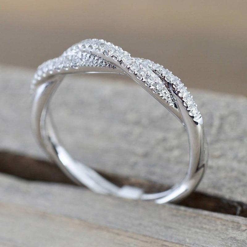 IPARAM patrón trenzado cáñamo de cuerda flores anillo oro plata Color Micro Zirconia cúbica cola anillo de moda joyería de las mujeres