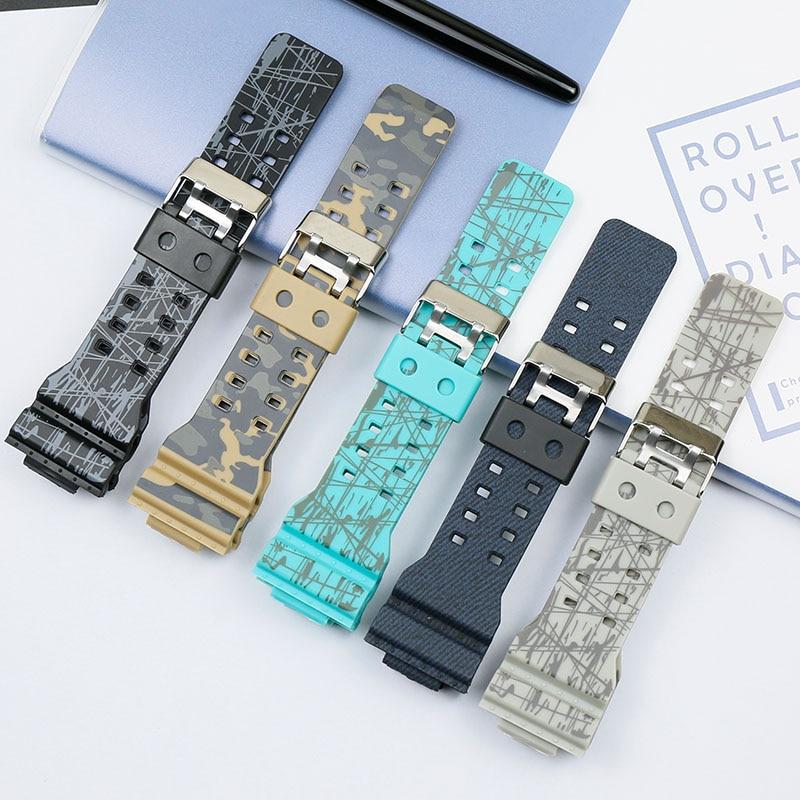 Men's Watch Accessories Camouflage Strap for Casio G-SHOCK GA-110 GA-100 GD-120 Women's Field Sports