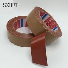 1 Uds. Cinta de tela marrón fuerte impermeable de una sola cara cinta de alfombra alta cinta adhesiva de cuero al por mayor