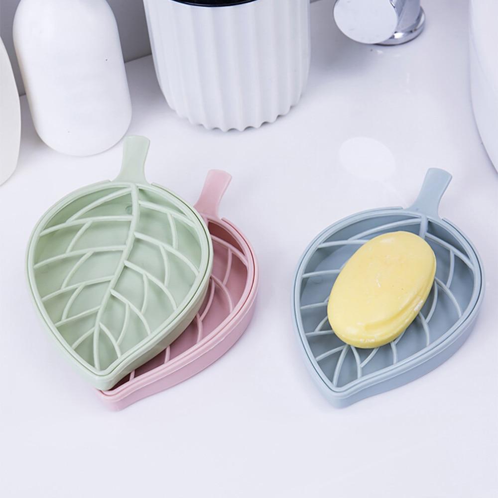 Многофункциональная Бытовая коробка для хранения мыла в форме листьев для ванной комнаты, мыльница для хранения тарелок, держатель для лотка, контейнер M18