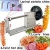 Coupe-frites en spirale en acier inoxydable 3 en 1