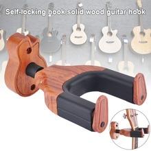 Nouvellement en bois montage mural guitare crochet de suspension gardien support suspendu YA88