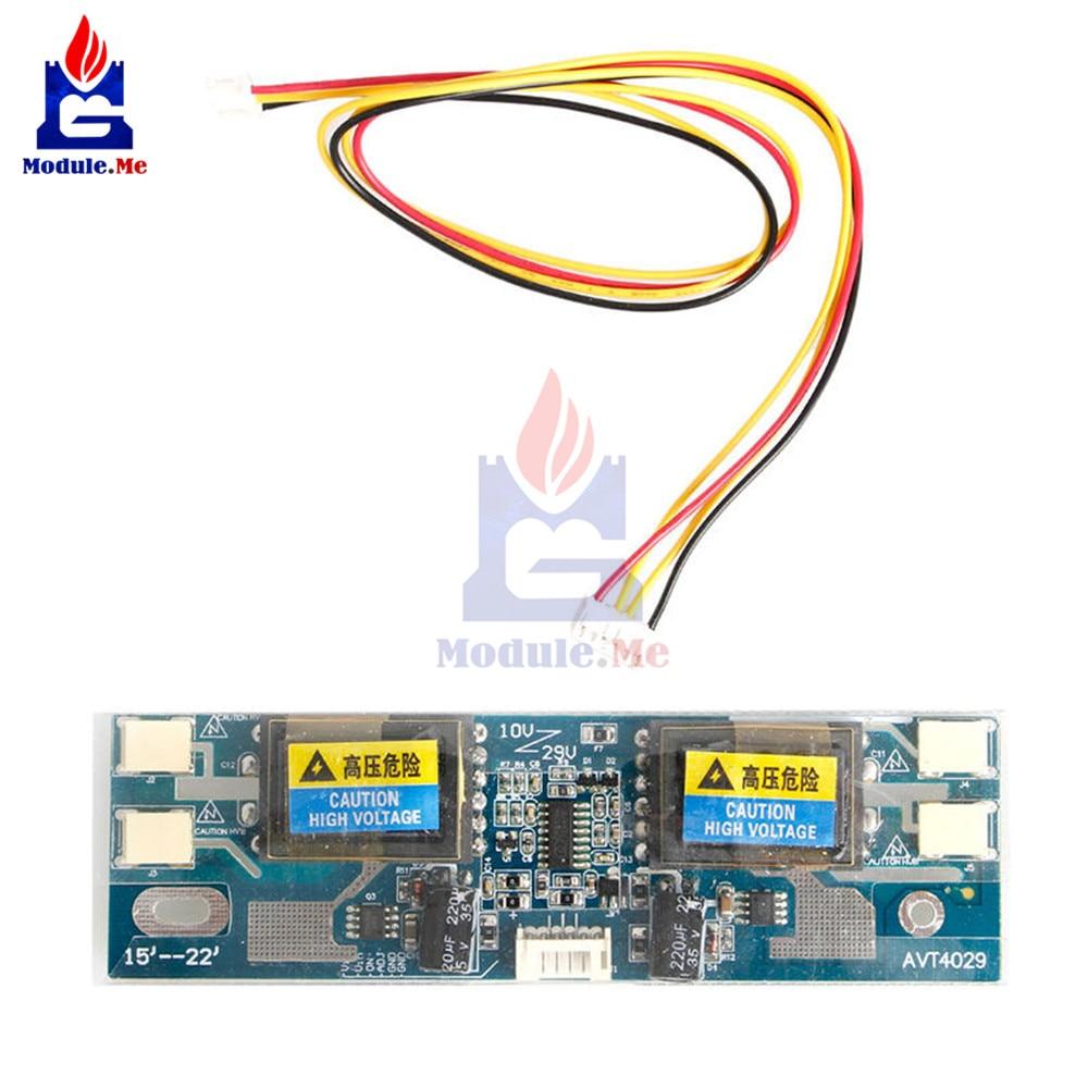 "10-30V Universal CCFL Inverter LCD Monitor 4 Lamp for Laptop 15-22"" Widescreen Diy Kit Electronic PCB Board Module"