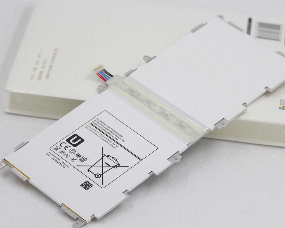 2 unids/lote Tab batería EB-BT530FBU para Samsung GALAXY Tab4 SM-T530 T531 T535 T537 T533 T535 6800mAh Tablet EB BT530FBU baterías