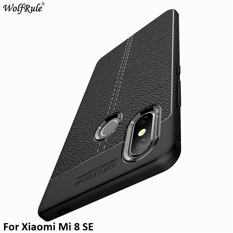 For Cover Xiaomi Mi 8 SE Case WolfRule Soft Silicone Fitted Cases For Xiaomi Mi8 SE Phone Case For X