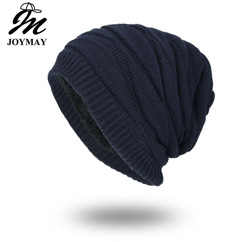 Joymay  Winter Autumn Beanies Hat Unisex Plain Warm Soft Skull Knitting Cap Hats Touca Gorro Caps For Men Women WM057