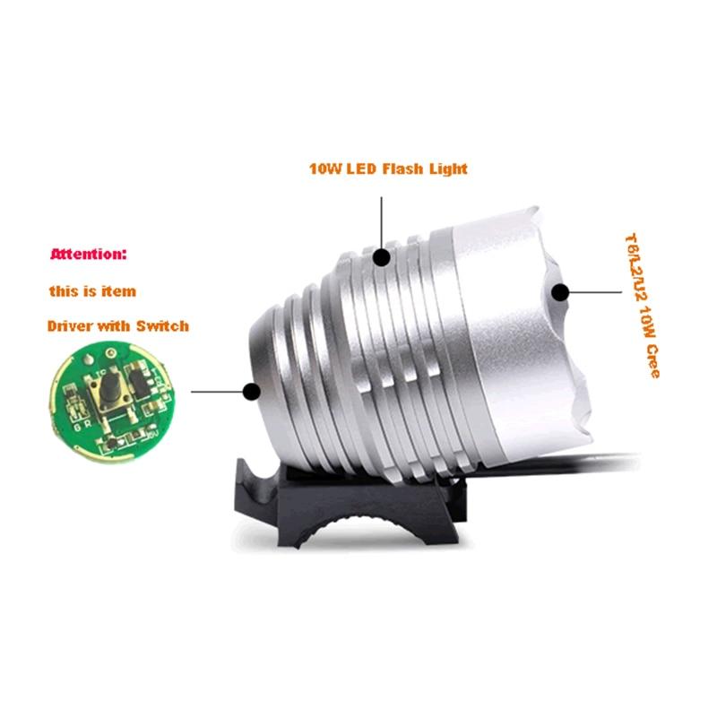 LED Driver with Switch Input 5V~ 12V 20mm For Cree 10W XML T6 / U2 XM-L2 Flashlight or 5V Battery Car Light