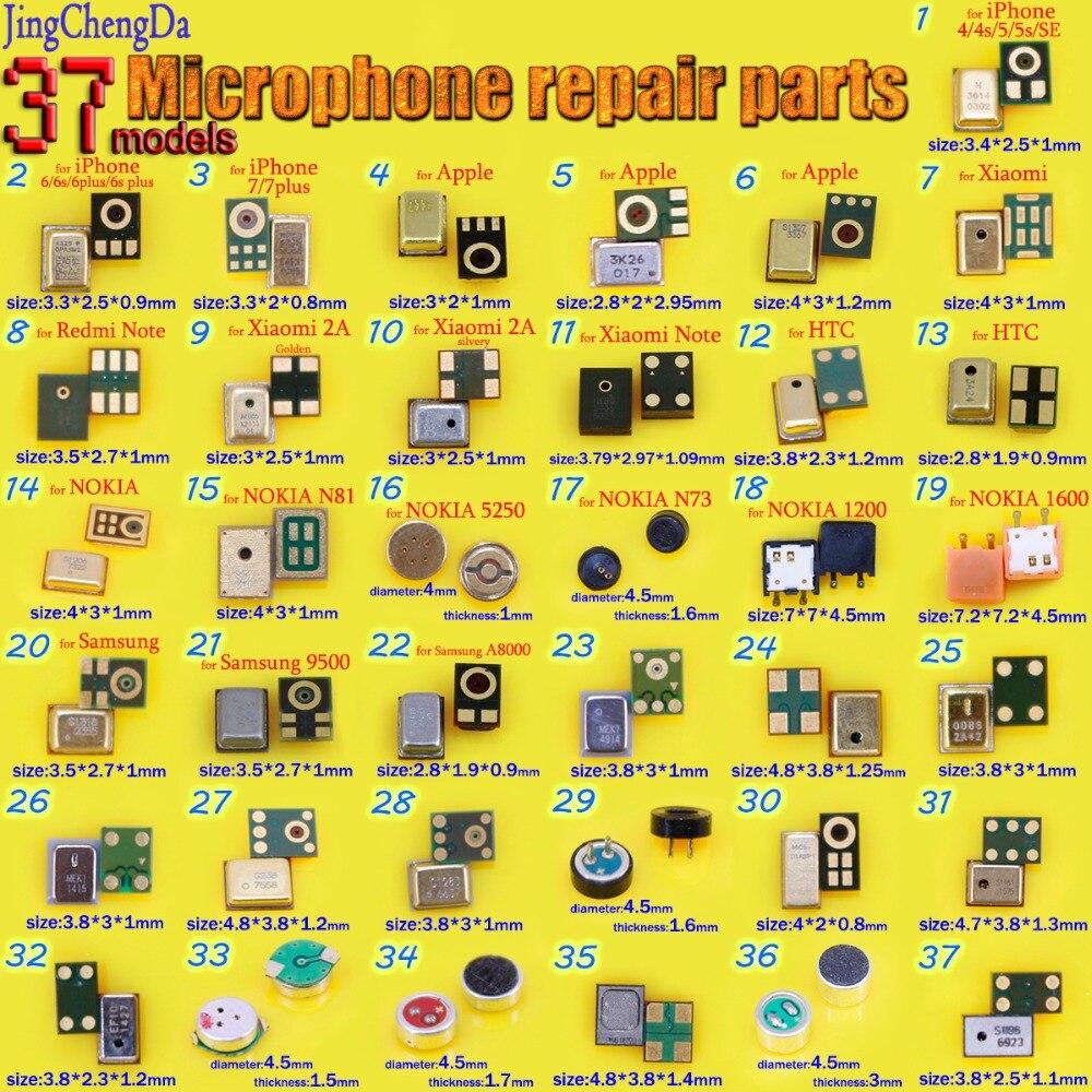 "JCD For iPhone 4 4S 5 5S SE 5C 6 6G 6S 7 4.7"" 6 Plus 6S Plus 7 Plus 5.5"" Speaker Microphones Inner MIC Repair Parts"
