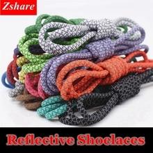 1Pair 19 Colors 3M Reflective Shoelaces Round Sneakers Shoe Laces Kids Adult Outdoor Sports Shoelace