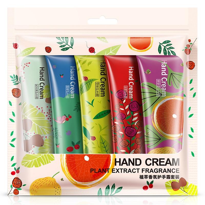 BIOAQUA, la mejor crema blanqueadora para rejuvenecimiento de manos, hidratante, reparador nutritivo, antiedad, cuidado de manos, juego de 5 uds.