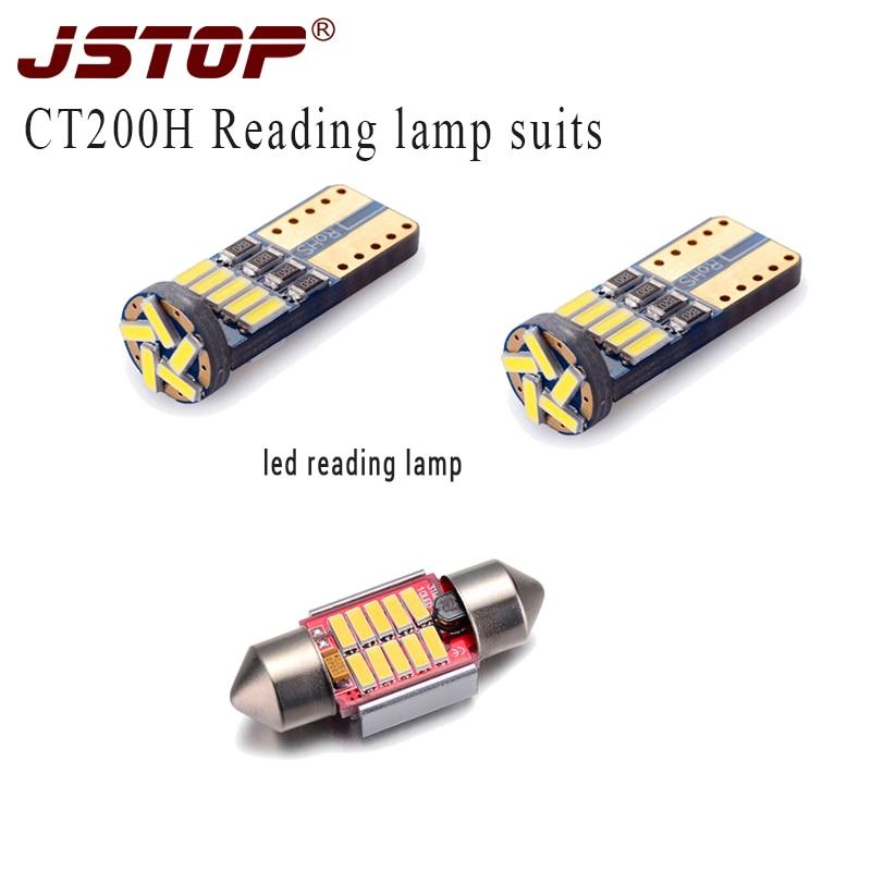 JSTOP 3 unids/set CT200H led luces de lectura T10 W5W canbus led...