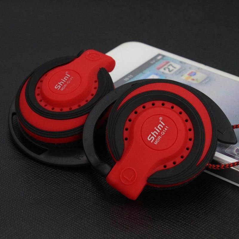 Shini Q141 Bass auriculares 3,5mm estéreo música auriculares EarHook Running auriculares para Xiaomi Mp3 Player ordenador móvil al por mayor
